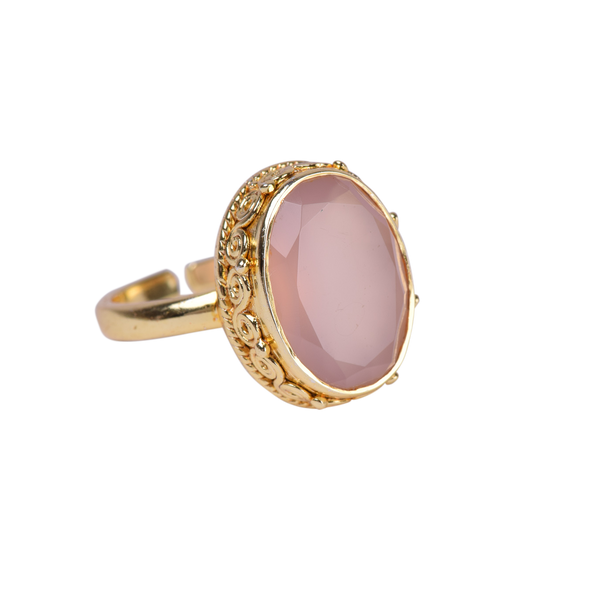 Sandeep ring Rose quartz