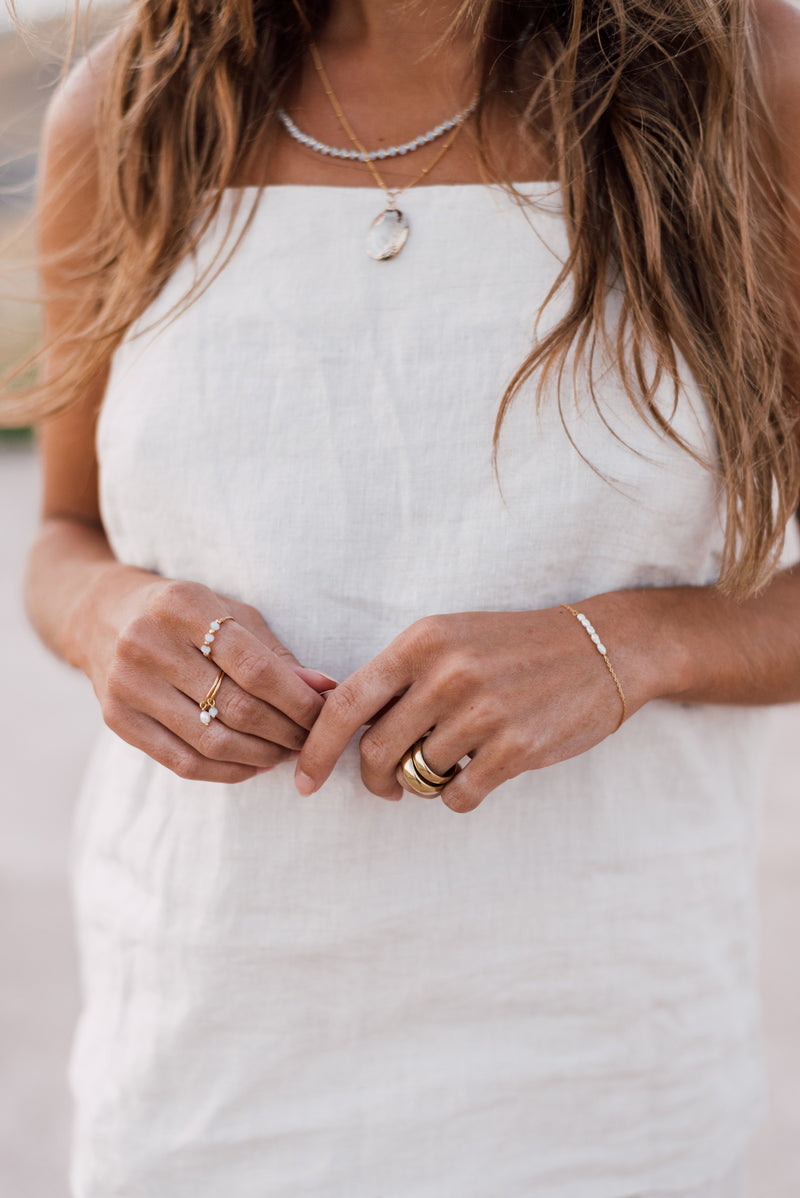 Stone ring lila