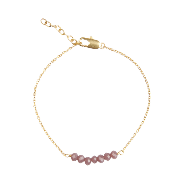 Stone bar bracelet light purple