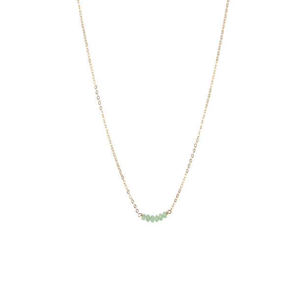 Stone bar necklace jade