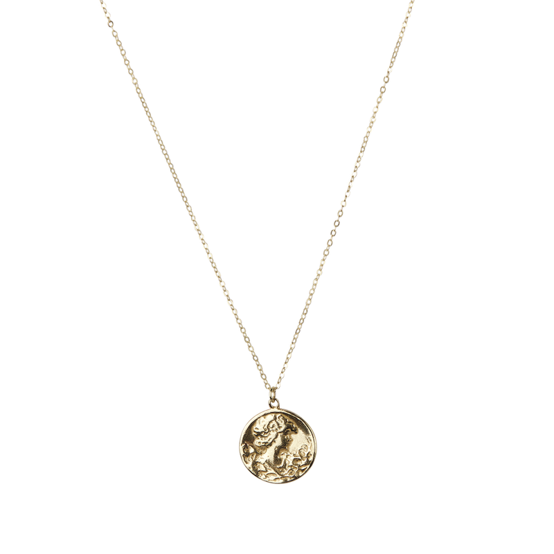 Lady on coin necklace
