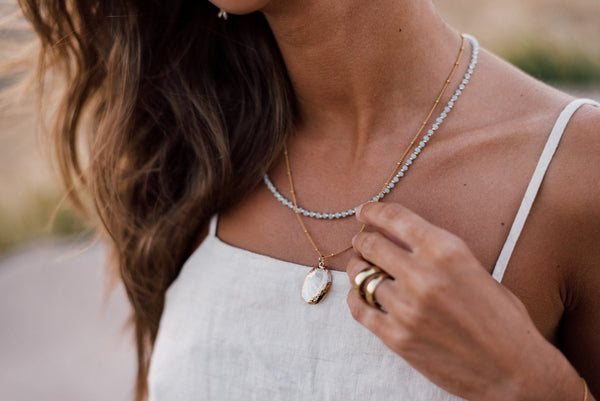 Gold layered shell necklace