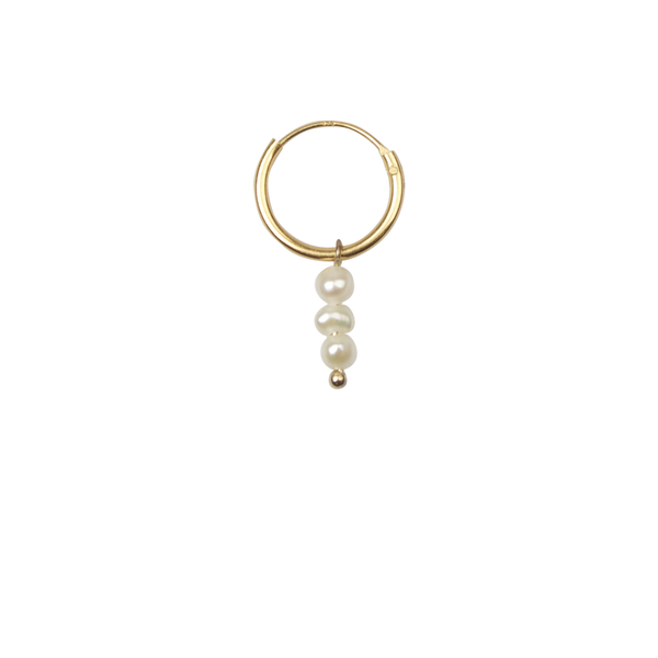 Long freshwater pearl earring (1pc)