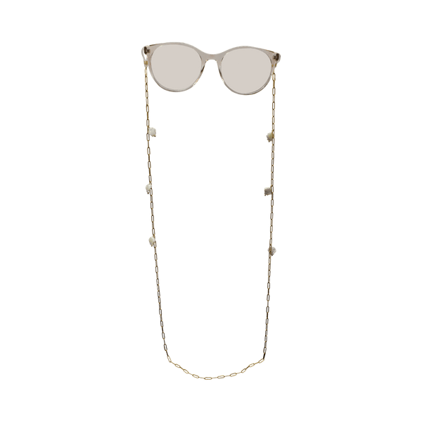 Sunglass cord chain with shells MOP