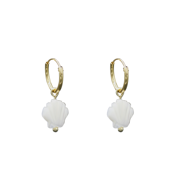 Shell MOP pair of earrings