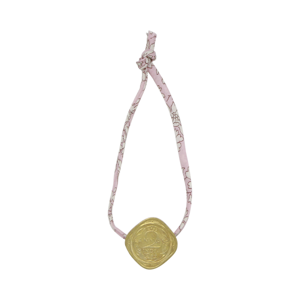 Anklet with Anna coin pink