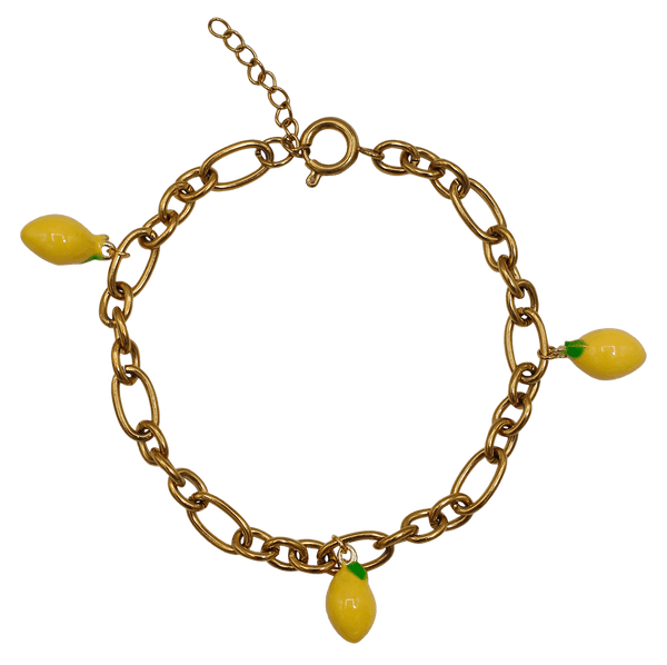 Statement bracelet three lemons