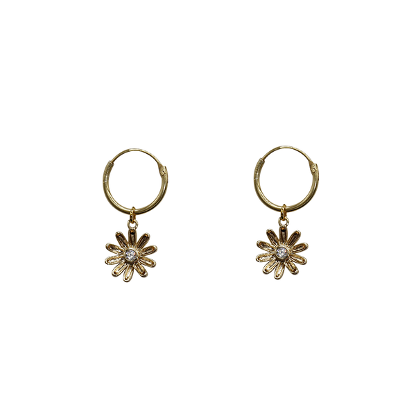 PRE-ORDER: Daisy with zirconia pair of earrings