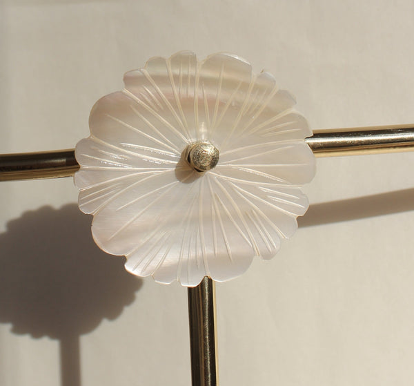 Daisy jewellery stand with mother of pearl