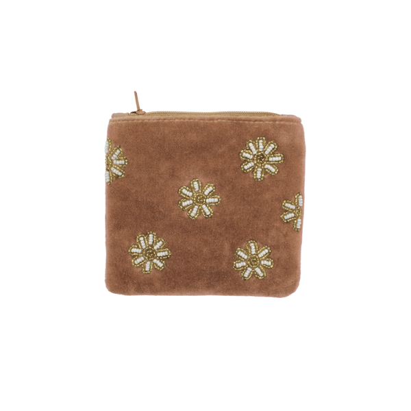Coin wallet daisies allover