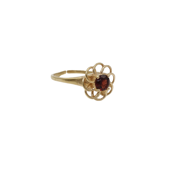 ''Vintage gold'' open flower Red Garnet