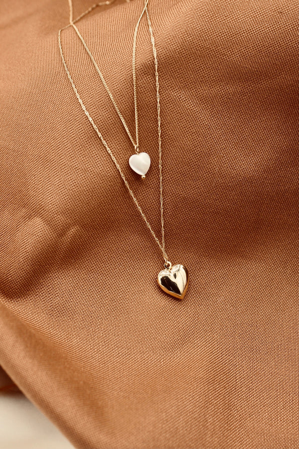 Heart MOP necklace