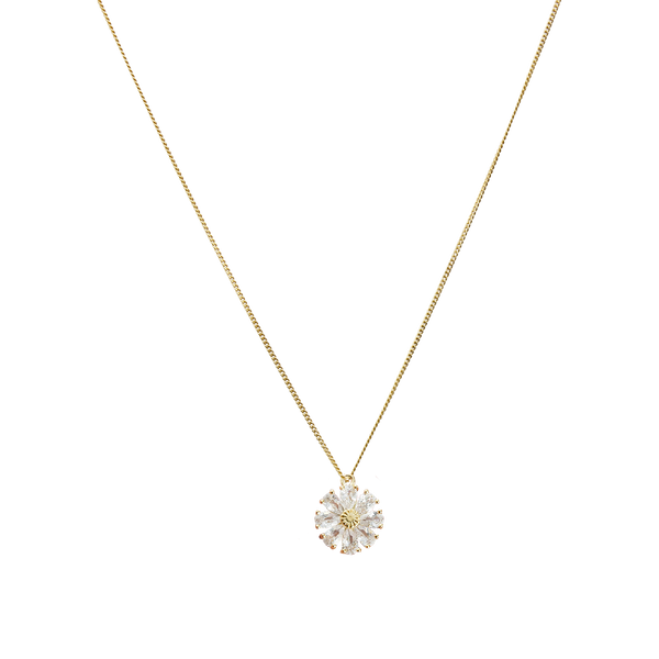 Zirconia daisy necklace