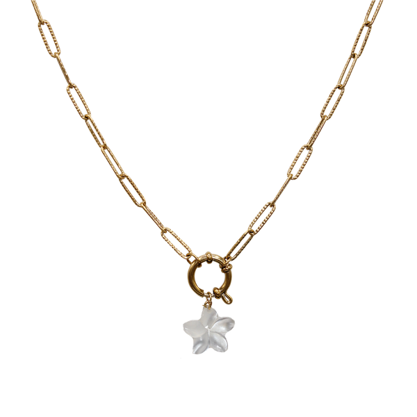 Flower MOP medium necklace