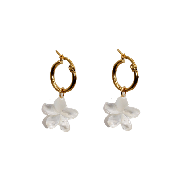 Flower MOP medium pair of earrings