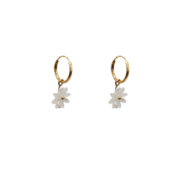 Daisy MOP pair of earrings