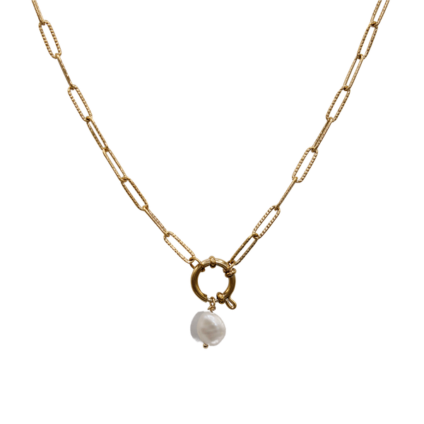 Statement necklace freshwater pearl