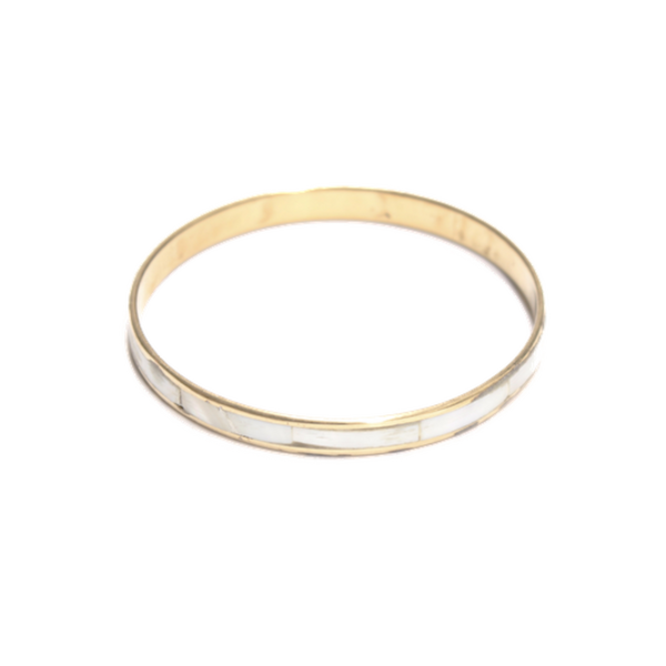Brass shell bangle