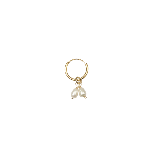 Double freshwater pearl earring (1pc)