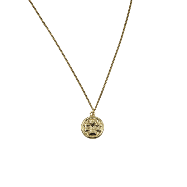 Clover coin necklace