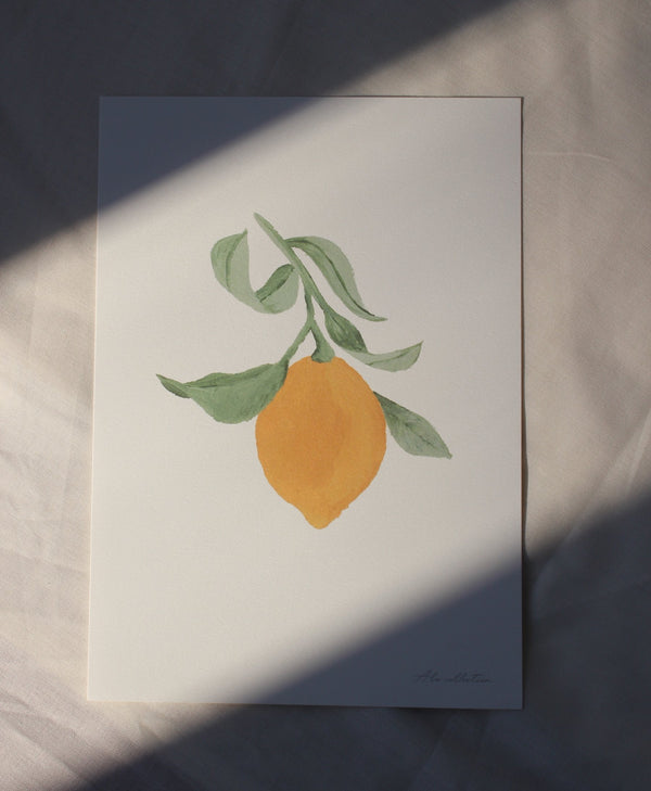 One lemon A4 poster