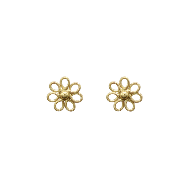 Flower pin pair of earrings small