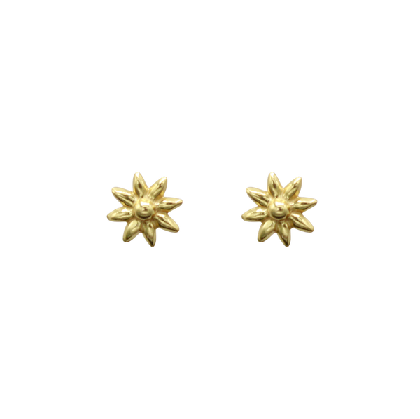 Daisy pin pair of earrings gold
