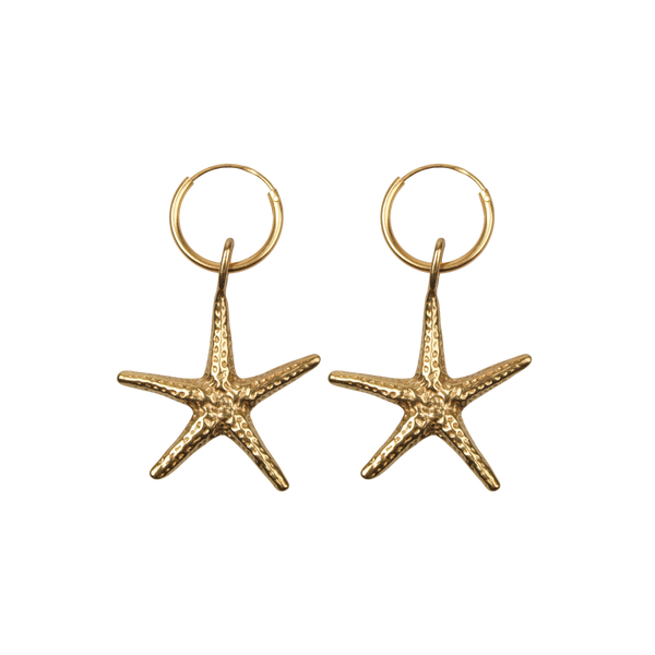 Big starfish pair of earrings