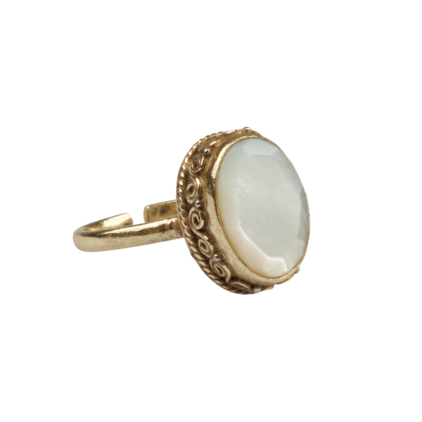 Sandeep ring Mother of pearl