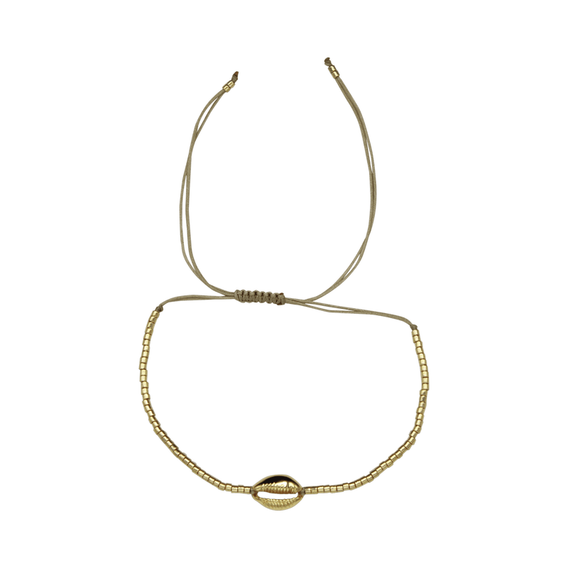 Shell thin rope anklet