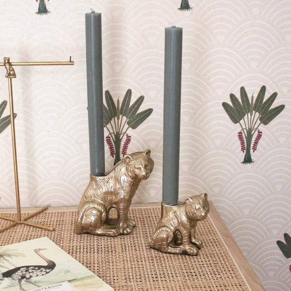 Big sitting tiger candle holder