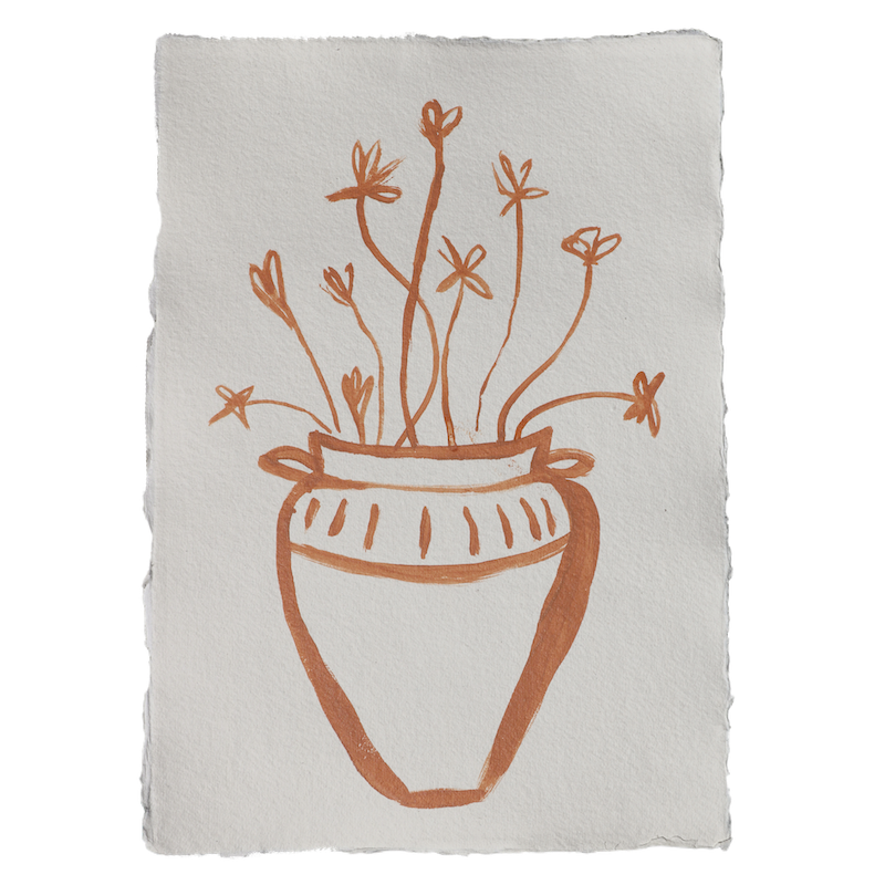 À la art - Pot with flowers A3