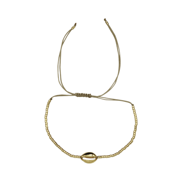 Shell thin rope bracelet