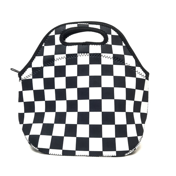 Checkerboard Lunch Bag Tote