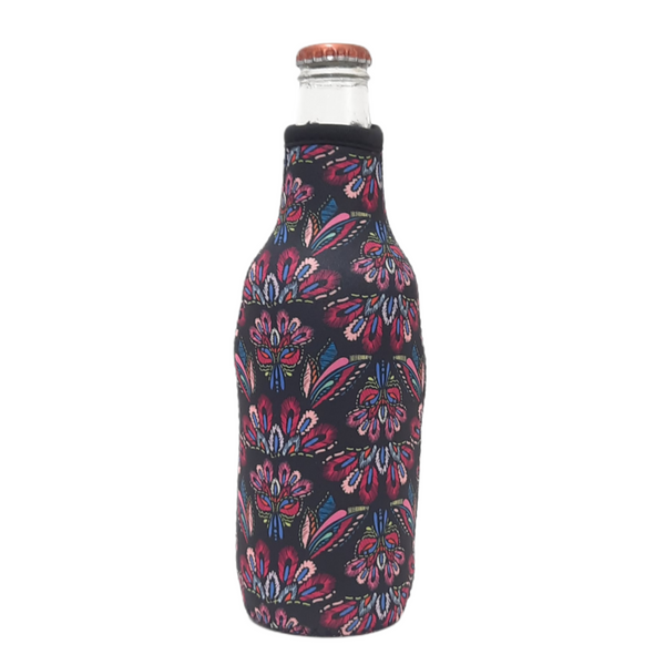 Pink Embroidery 12oz Bottleneck Cooler