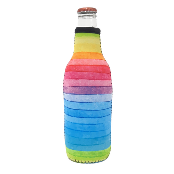 Rainbow 12oz Bottleneck Cooler