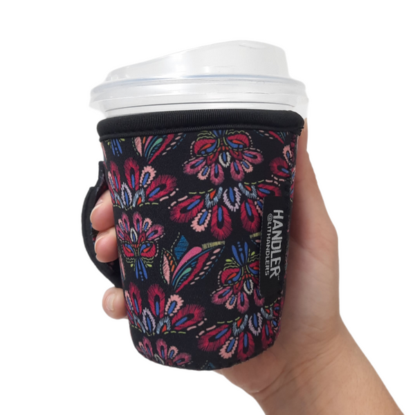 Pink Embroidery 12oz Small/Tall Coffee Handler™