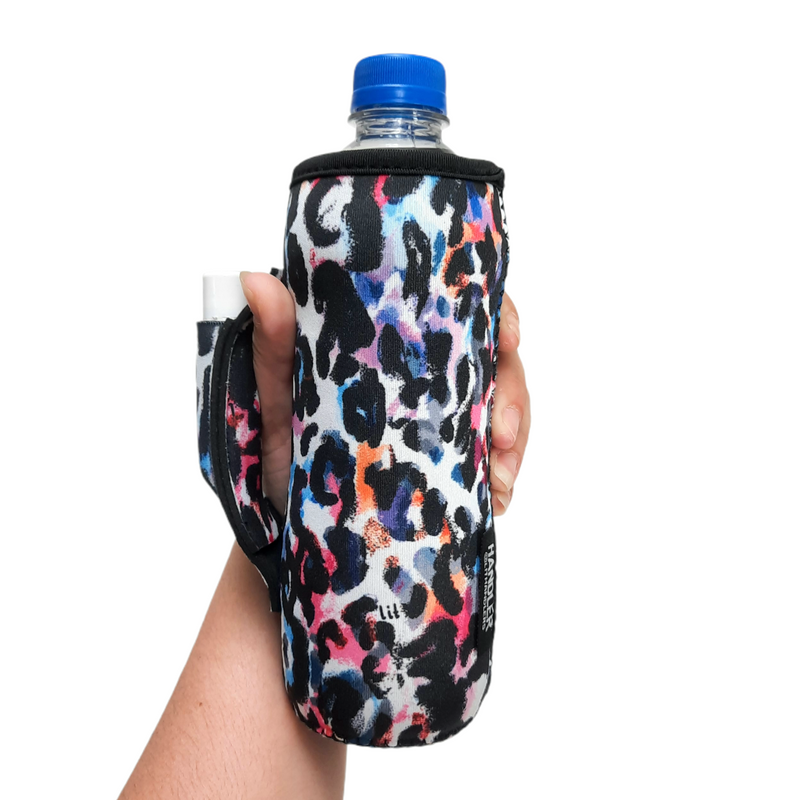 Watercolor Leopard Water Bottle Handler
