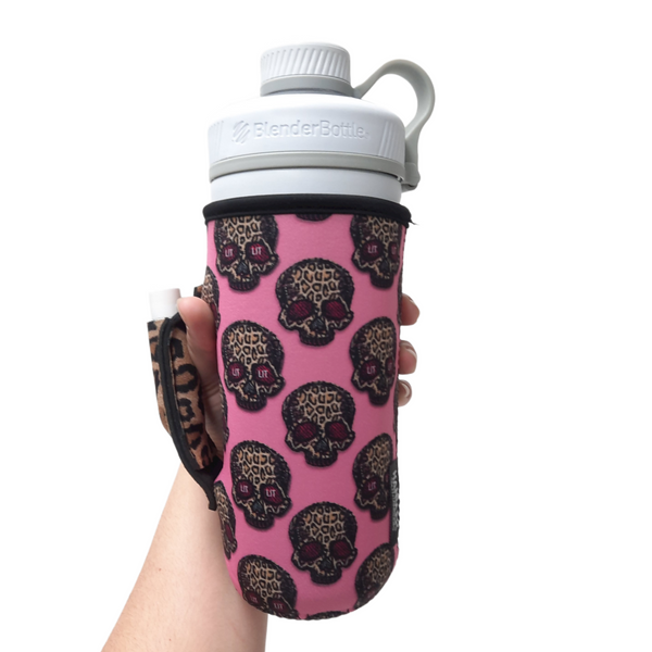 Leopard Sugars 30oz Tumbler Handler™ w/ Pocket fits Blender Bottles & YETI®