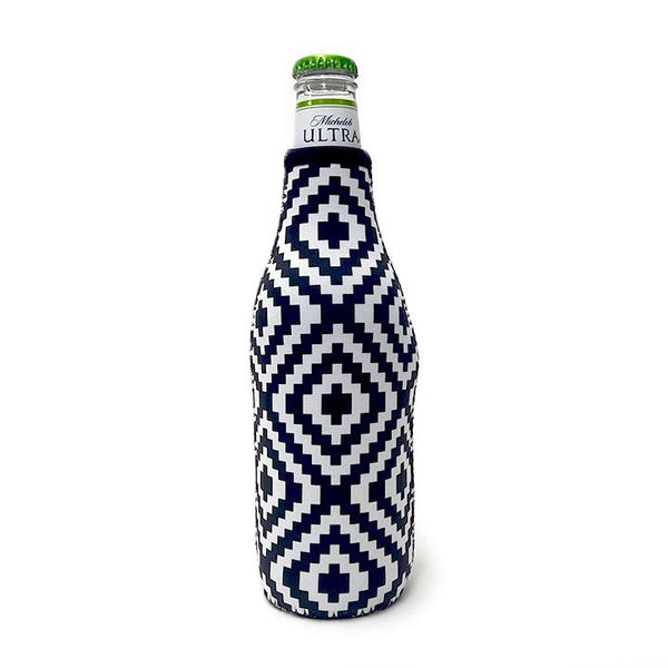 Black & White Aztec Bottleneck Cooler