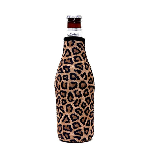 Leopard Bottle Neck Cooler