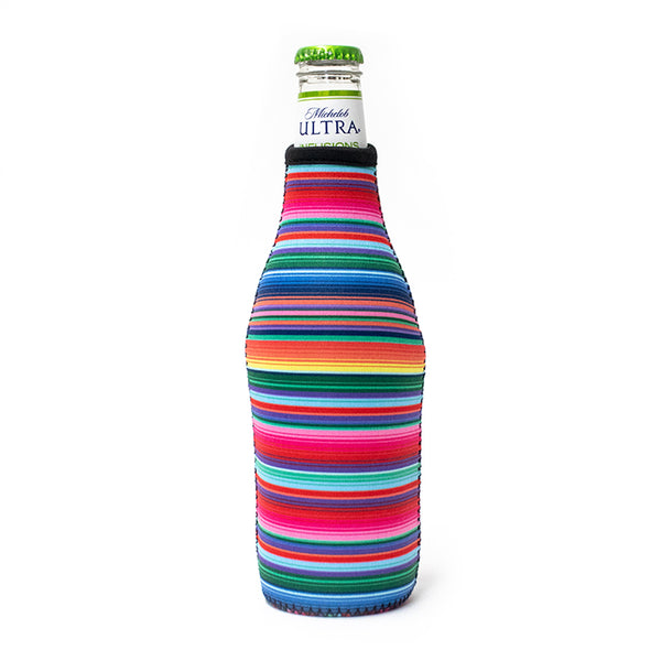 Pink Serape Bottle Neck Cooler