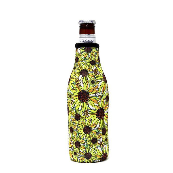 Sunflowers & Bees 🐝 Bottle Neck Cooler