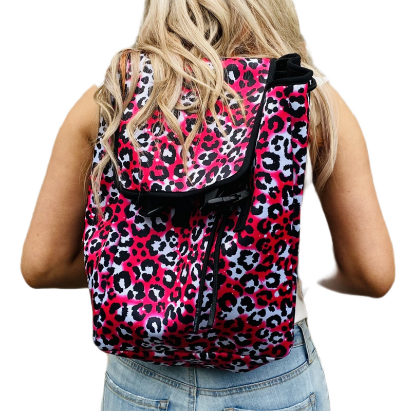 Hot Pink Leopard Backpack
