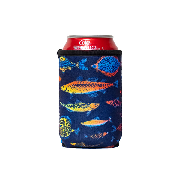 Neon Fish 12oz Stubby Can Cooler