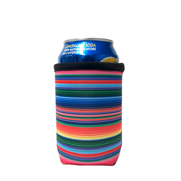 Pink Serape 12oz Stubby Can Cooler