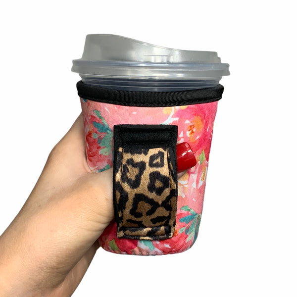 Summer Blooms W/ Leopard Handle 12oz Small/Tall Coffee Handler™