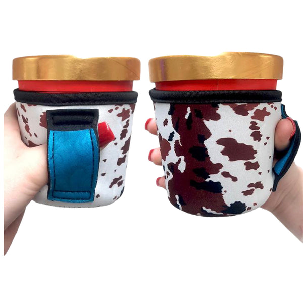 Cowhide w/ Turquoise Leather Pint Size Ice Cream Handler™