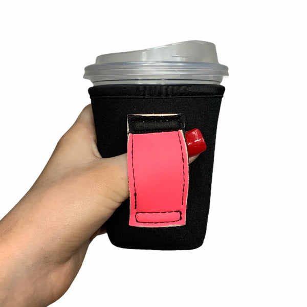 Black w/ Neon Pink Handle 12oz Small/Tall Coffee Handler™