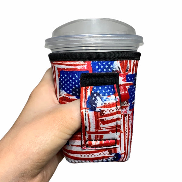 Old Glory 12oz Small/Tall Coffee Handler™ - Limited Edition*